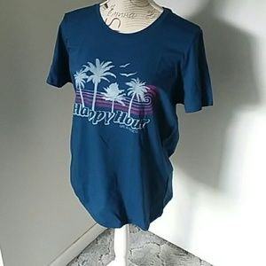 Life is Good classic fit tee Happy Hour NWT sz LG